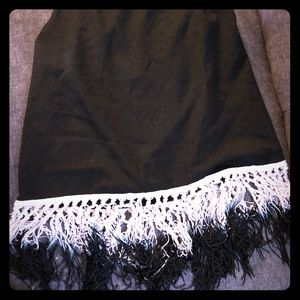 Tank top with ombré fringe